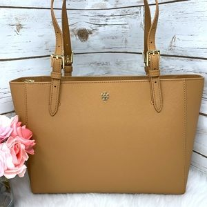 Emerson small buckle tote cardamom Tory Burch NWT